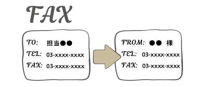 シンプルでかわいいレトロなデザインFAX送付状の無料テンプレート