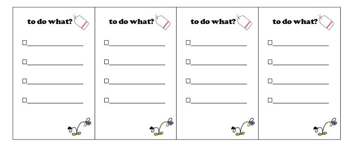 かわいい!ToDoリスト(やる事)無料のテンプレート「Word/Excel/PDF」
