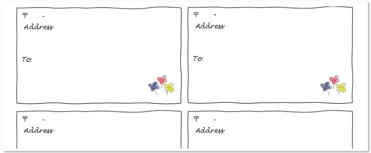 エクセルやワードで簡単編集!宛名ラベルのテンプレート